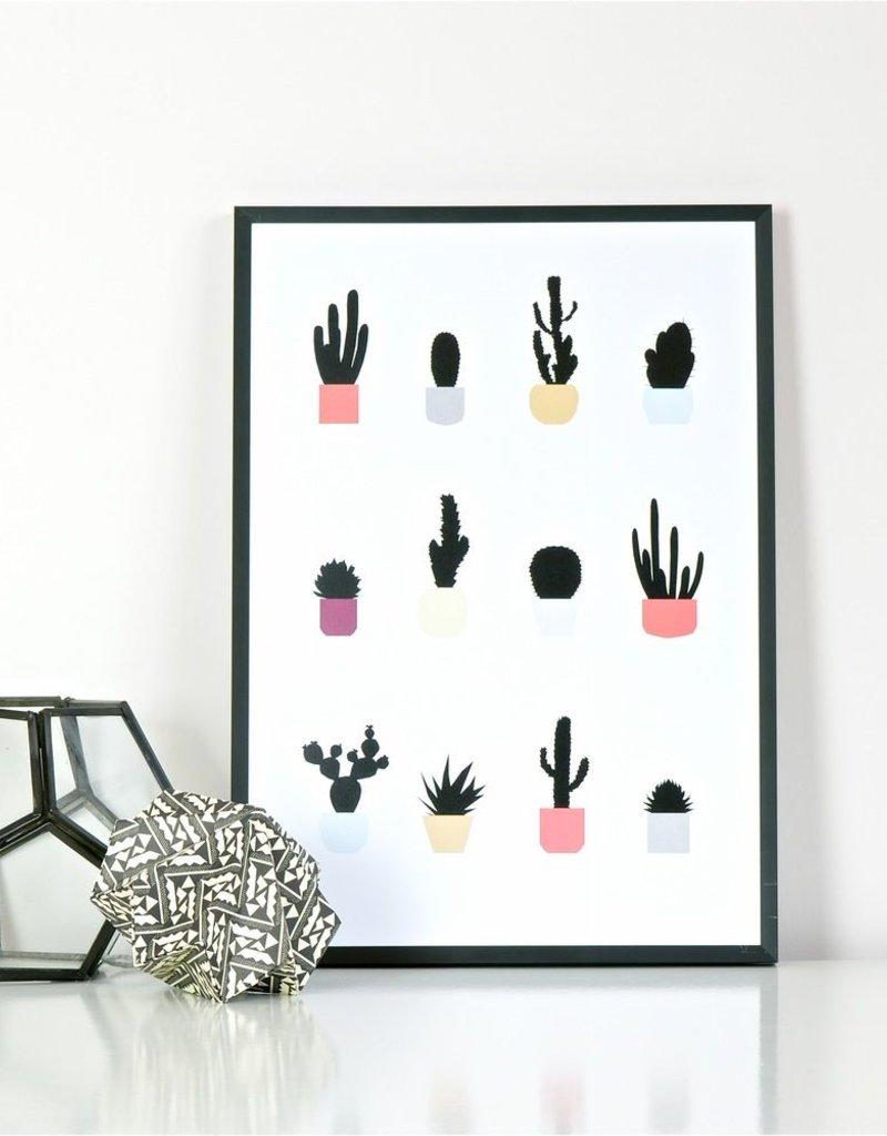 Cactussen Poster Ingrid Petrie A3