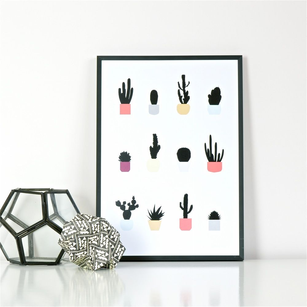 Cactussen Poster Ingrid Petrie A3