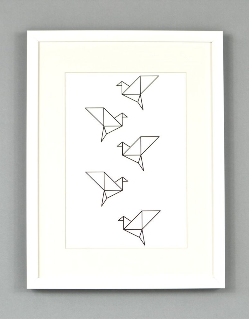 Origami vogels Poster Ingrid Petrie A3