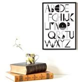 Alfabet Poster Ingrid Petrie A3