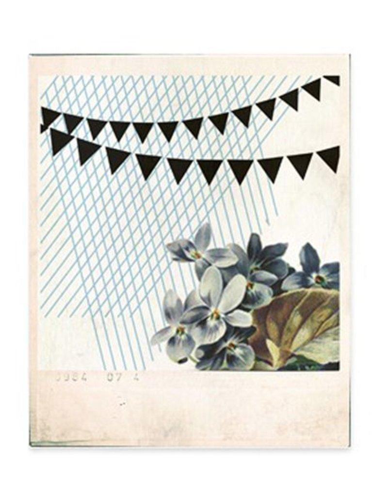 Postkaart Granny Flower Nuukk blauw