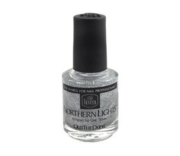 INM Northern Lights Hologram Top Coat Silver 15 ml