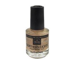 INM Northern Lights Hologram Top Coat Gold 15 ml
