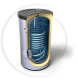 Buffervat 160 Liter, indirect gestookt, geschikt als zonneboiler buffervat, met 1 warmtewisselaar