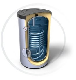 Buffervat 160 Liter, indirect gestookt, met 1 warmtewisselaar