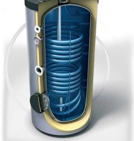 Buffervat 400 Liter, indirect gestookt, met 2 warmtewisselaars