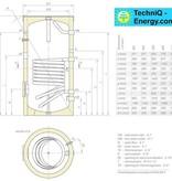 TechniQ-Energy 200L zonneboiler set (24HP) met tapwaterondersteuning