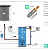 TechniQ-Energy 500L zonneboiler set (60HP) met (vloer)verwarming- en tapwaterondersteuning