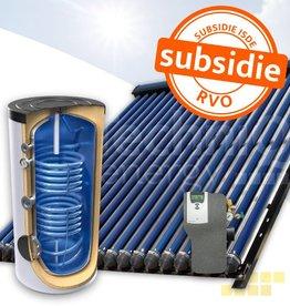 TechniQ-Energy 300L zonneboiler set (30HP) met (vloer)verwarming- en tapwaterondersteuning