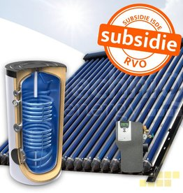 TechniQ-Energy 500L zonneboiler set (48HP) met (vloer)verwarming- en tapwaterondersteuning