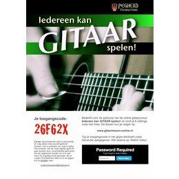Online licentie voor Iedereen kan GITAAR spelen!