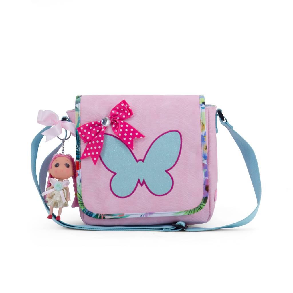 Zebra Tassen Kinderflaptas tropical pink met Doll ...