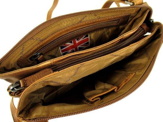 Schoudertas Xl : Chesterfield leren schoudertas portemonnee cognac xl