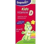 DAGRAVIT Kids vitamine D druppels oliebasis (25ml)