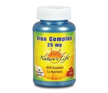 NATURES LIFE Iron complex 25mg (100vc)