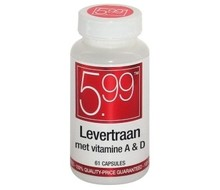 5.99 Levertraan Vitamine A & D (61cap)