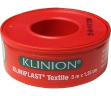 KLINIPLAST Kliniplast hechtpleister 5X1.25M+ring (1st)