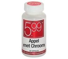 5.99 Slank appel met chroom (30cap)