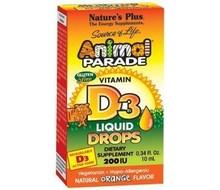 NATURES PLUS Animal parade vitamine D-3 druppels (10ml)