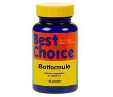 BEST CHOICE Botformule calcium magnesium vitamine D (100tab)