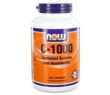 NOW Vitamine C 1000mg SR rose hips (250tab)