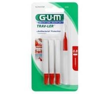 GUM Trav-ler 4 brush/caps s fine 1314 (verp.)