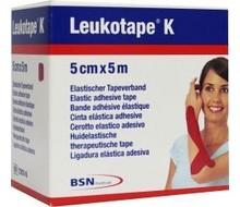 LEUKOTAPE Leukotape K 5 m X 5.0 cm rood (1st)
