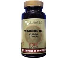 ARTELLE Vitamine D3 25 mcg (100sft)
