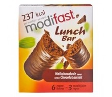MODIFAST Snack & meal lunchreep melkchocolade (6x31g)