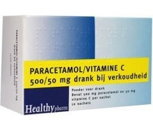 HEALTHYPHARM Paracetamol & vit C (10sach)