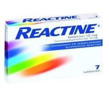 REACTINE Anti histaminicum 10 mg (7tab)