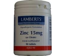 LAMBERTS Zink (zinc) citraat 15 mg (180tab)