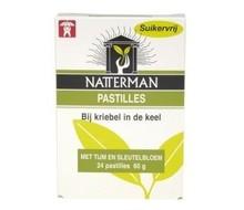 NATTERMAN Hoestpastille tijm/sleutelbloem (24past)