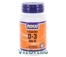 NOW Vitamine D-3 400IE (90sft)