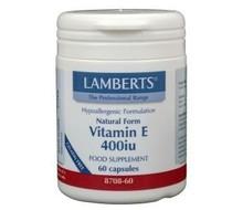 LAMBERTS Vitamine E 400IE natuurlijk (60vc)