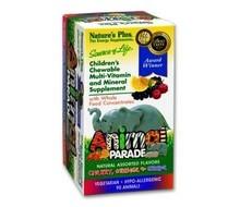 NATURES PLUS Animal parade multi gemengd fruit (tutti frutti) (90kt)