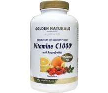 GOLDEN NATURALS Vitamine C 1000 & rozebottel (250tab)