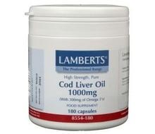 LAMBERTS Levertraan (cod liver oil) 1000 mg (180cap)