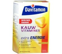 DAVITAMON Kauwvitaminen extra energy (30tab)