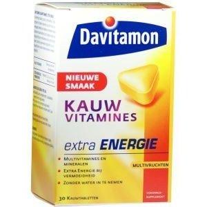 DAVITAMON Kauwvitaminen extra energy (30tab)