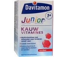 DAVITAMON Junior 1+ kauwtabletten aardbei (120kt)