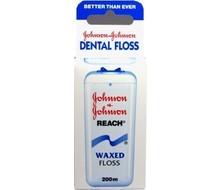 Johnson & Johnson Dental reach floss waxed (200mtr)