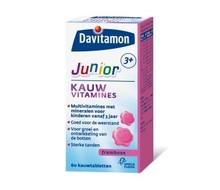 DAVITAMON Junior 3+ framboos (60ktab)
