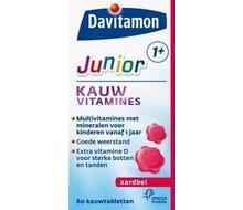 DAVITAMON Junior 1+ kauwtabletten aardbei (60ktab)