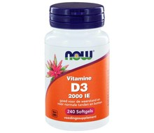 NOW Vitamine D3 2000IE 240 softgels