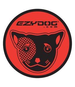 EzyDog Sticker rond rood