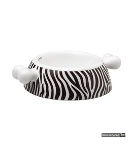 "Bellomania Bellomania dog food bowl from porcelain Atrium Zebra ""Limited Edition"""