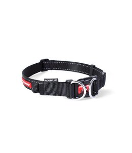 EzyDog Double Up halsband, zwart