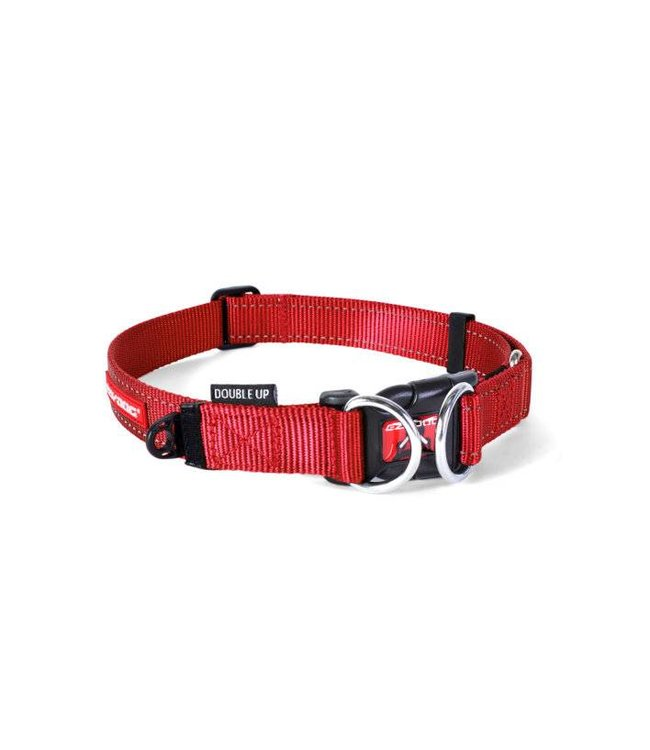 EzyDog EzyDog Double Up halsband, rood
