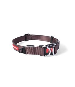 EzyDog Double Up collar, brown